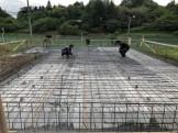 防湿シートと配筋の風景です。|郡山市 新築住宅 大原工務店のブログ