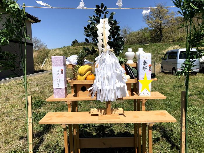 地鎮祭執り行いました。本宮市高木  郡山市 新築住宅 大原工務店のブログ