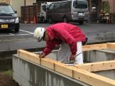 土台敷きの段取り中です 郡山市富田町 | 郡山市 新築住宅 大原工務店のブログ