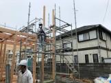 新築注文住宅の上棟です。