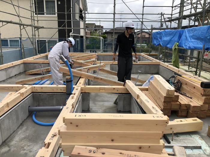 新築住宅の土台入れです。|郡山市 新築住宅 大原工務店のブログ