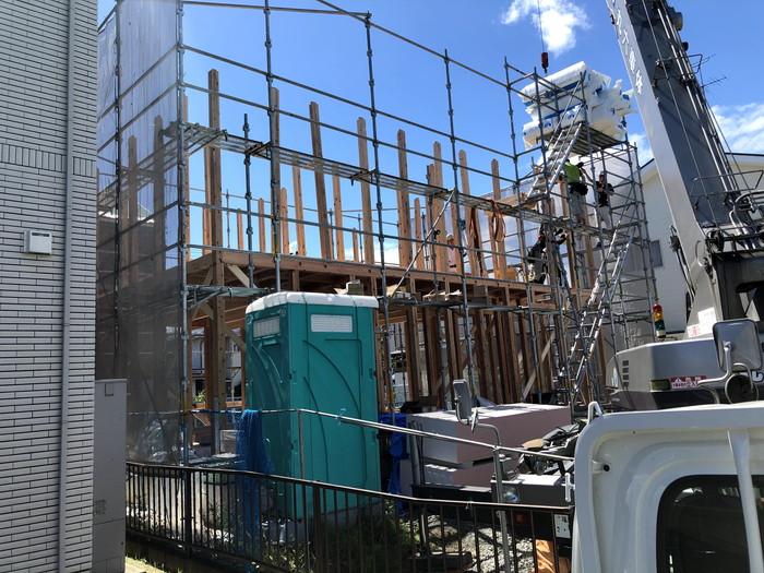 箱型の注文住宅の上棟です。 郡山市 新築住宅 大原工務店のブログ