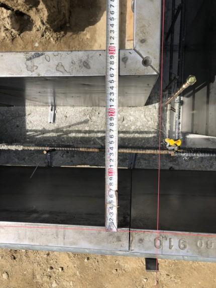 べた基礎の幅の確認です。|郡山市 新築住宅 大原工務店のブログ