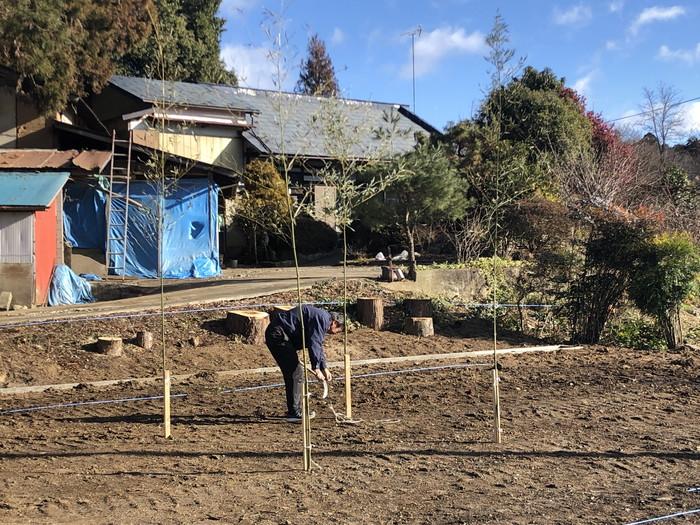地鎮祭の竹設置完了です。|郡山市 新築住宅 大原工務店のブログ