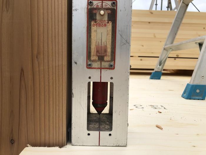 家の垂直がばっちりです。|郡山市 新築住宅 大原工務店のブログ