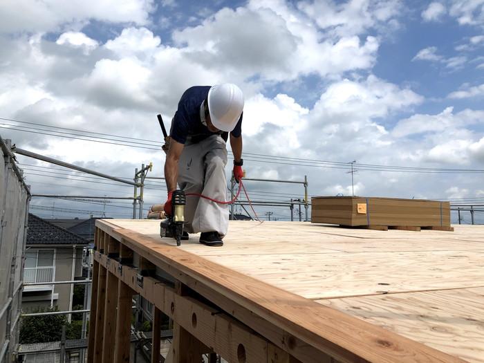 上棟の屋根施工です。 郡山市 新築住宅 大原工務店のブログ