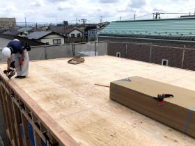 注文住宅の屋根下地の完成です。 郡山市 新築住宅 大原工務店のブログ