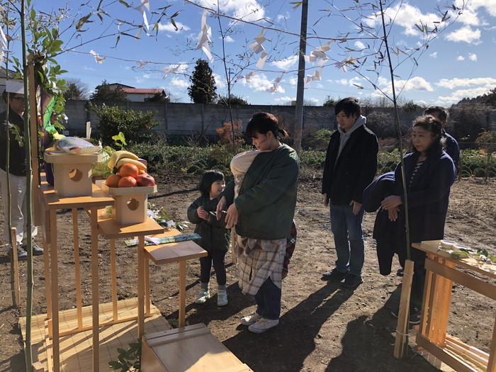 ご家族で玉串奉奠です。|郡山市 新築住宅 大原工務店のブログ