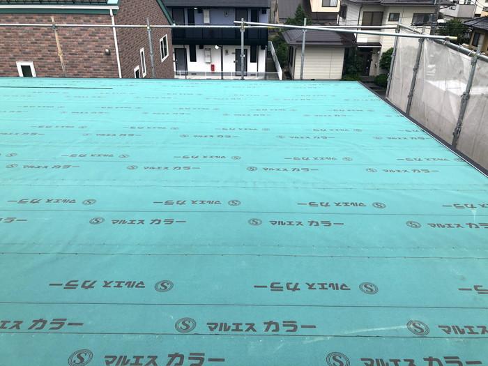 屋根のルーフィング葺です。|郡山市 新築住宅 大原工務店のブログ