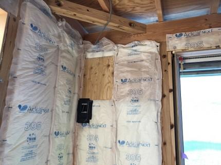 断熱材施工してます。郡山市田村町|郡山市 新築住宅 大原工務店のブログ