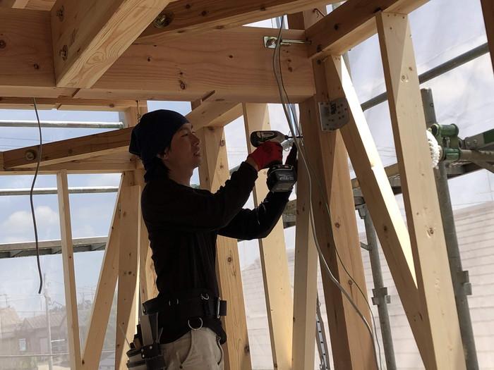 耐震金物の取付です。|郡山市 新築住宅 大原工務店のブログ