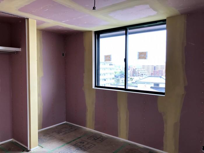 パテ処理完了です。郡山市深沢 郡山市 新築住宅 大原工務店のブログ