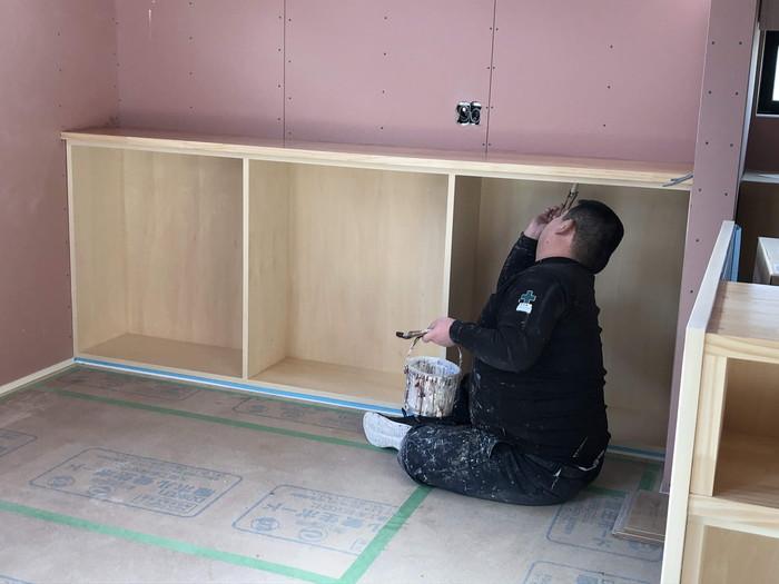 造作棚の塗装工事です。|郡山市 新築住宅 大原工務店のブログ