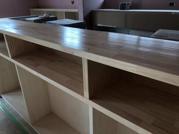 造作キッチンカウンターです。|郡山市 新築住宅 大原工務店のブログ