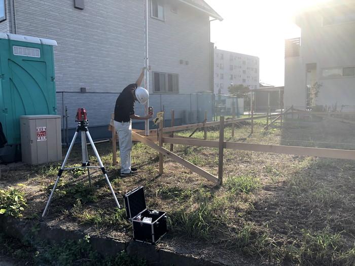 注文住宅の丁張検査です。|郡山市 新築住宅 大原工務店のブログ
