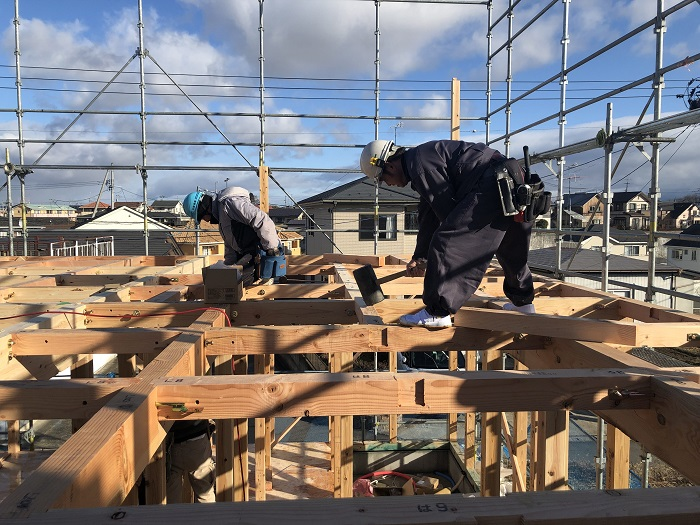 上棟しました 須賀川市森宿 |郡山市 新築住宅 大原工務店のブログ