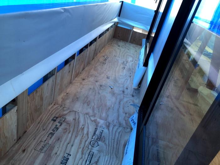 ベランダの防水の下地施工です。|郡山市 新築住宅 大原工務店のブログ
