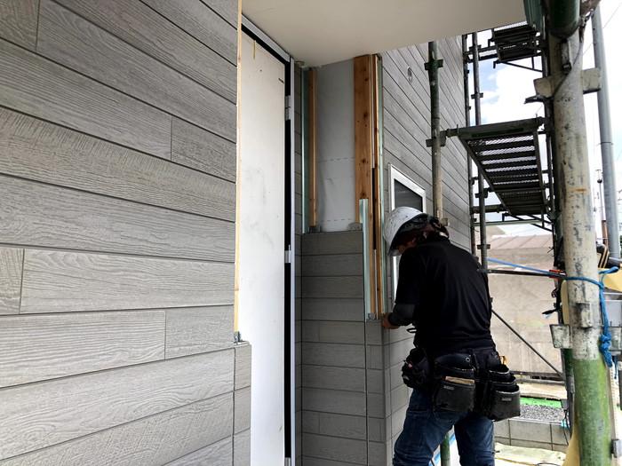 外壁の施工です。|郡山市 新築住宅 大原工務店のブログ
