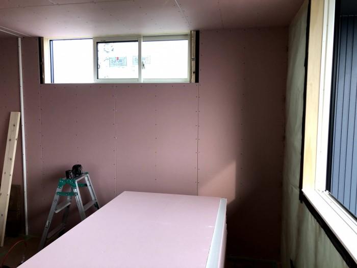 石膏ボードを張るとこのようになります。郡山市安積町Y様邸| 郡山市 新築住宅 大原工務店のブログ