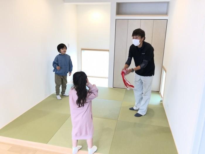 お子さんの楽しそうな姿が印象的でした。|郡山市 新築住宅 大原工務店のブログ