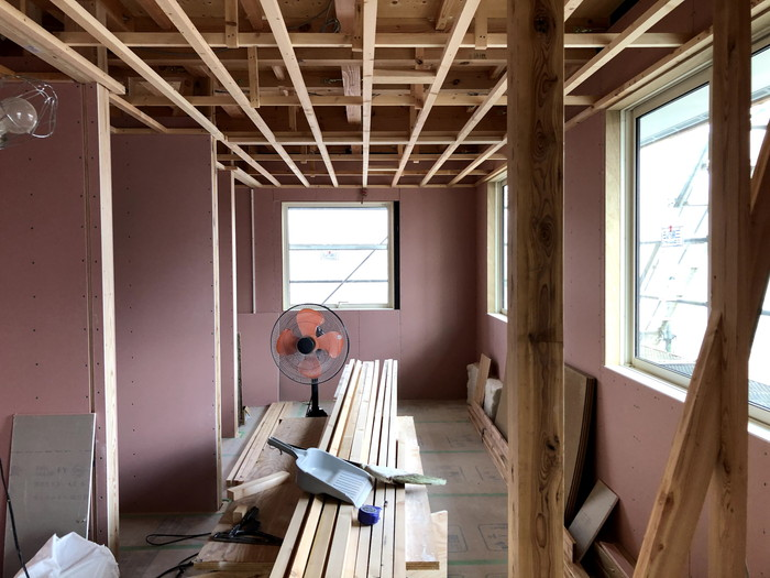 注文住宅の天井の下地です。|郡山市 新築住宅 大原工務店のブログ