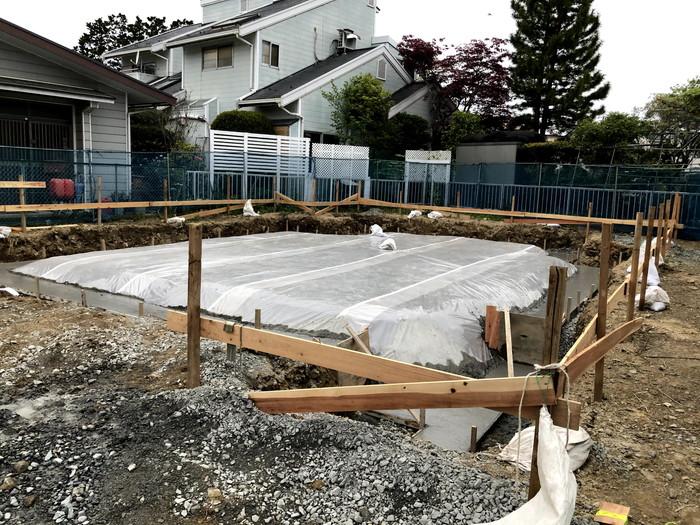 M様邸、防湿シート施工されました。郡山市安積町  郡山市 新築住宅 大原工務店のブログ
