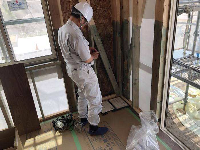 中間検査の様子です。|郡山市 新築住宅 大原工務店のブログ