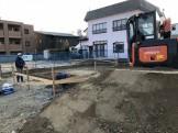 丁張検査を行いました。二本松市|郡山市 新築住宅 大原工務店のブログ