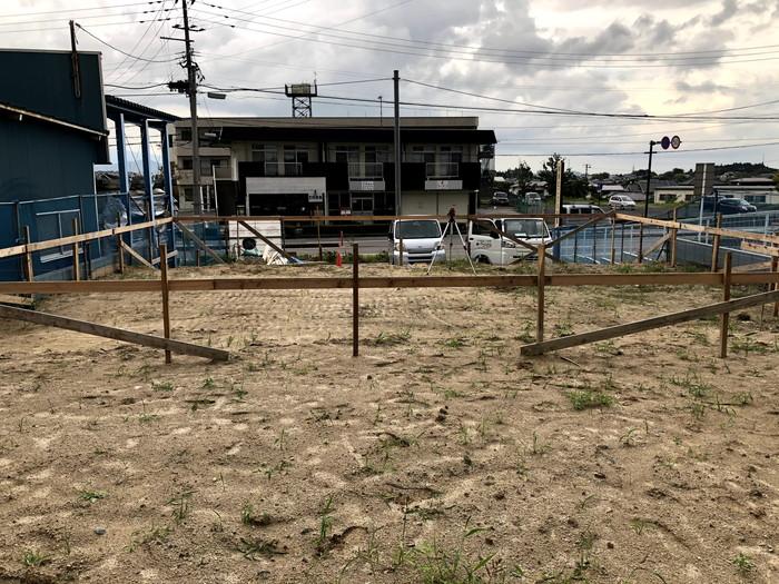 丁張の様子です。|郡山市 新築住宅 大原工務店のブログ