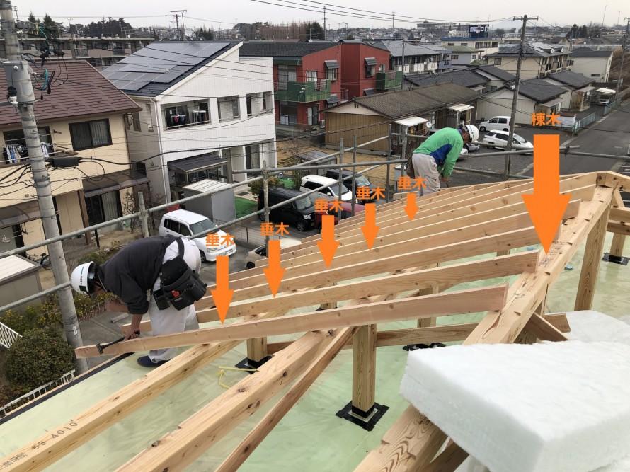 郡山市町東のS様邸新築工事、上棟しました。|郡山市 新築住宅 大原工務店のブログ