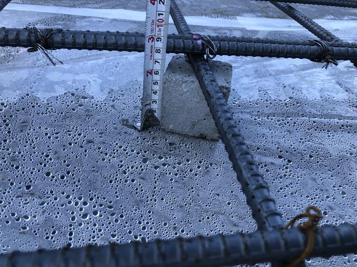 コンクリートのかぶり厚さの確認です。二本松市A様邸  郡山市 新築住宅 大原工務店のブログ