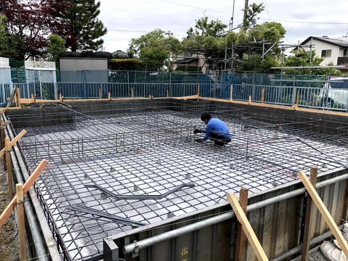 鉄筋を組んでいます 郡山市安積町 |郡山市 新築住宅 大原工務店のブログ