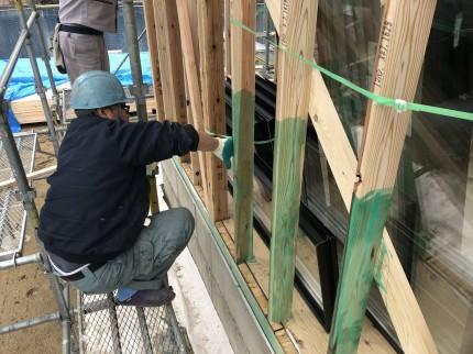 防腐防蟻剤塗布状況その2|郡山市 新築住宅 大原工務店のブログ