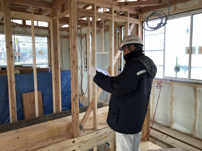 検査の様子です。|郡山市 新築住宅 大原工務店のブログ