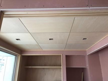 和室の天井は、シナの目透しです。郡山市田村町|郡山市 新築住宅 大原工務店のブログ