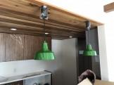 オシャレなペンダントライトが取り付けられました。須賀川市北横田|郡山市 新築住宅 大原工務店のブログ