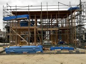 上棟完了の様子です。|郡山市 新築住宅 大原工務店のブログ