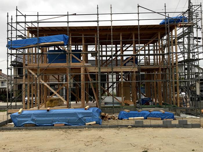 上棟完了の様子です。 郡山市 新築住宅 大原工務店のブログ