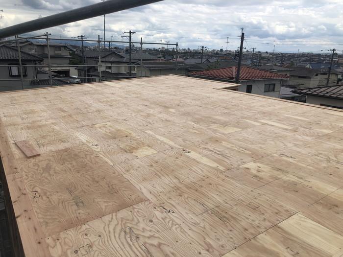 野地板の施工です。|郡山市 新築住宅 大原工務店のブログ