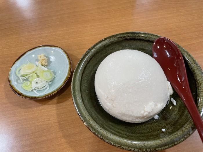 温泉で食べた寄せ豆腐です!| 郡山市 新築住宅 大原工務店のブログ