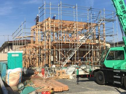神明下モデルが上棟しました | 郡山市 新築住宅 大原工務店のブログ