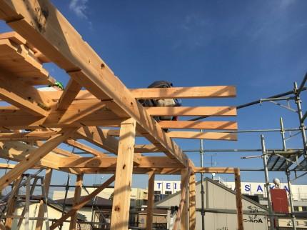 神明下のモデルの垂木 | 郡山市 新築住宅 大原工務店のブログ