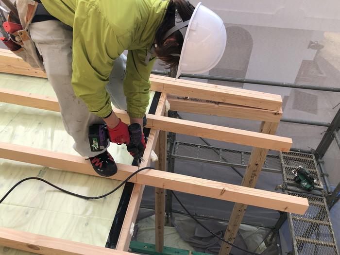 タルキックの施工です。|郡山市 新築住宅 大原工務店のブログ