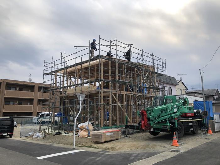 A様邸の上棟の様子です。|郡山市 新築住宅 大原工務店のブログ