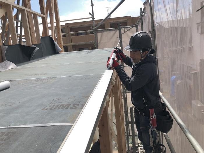 新築住宅の唐草施工です。|郡山市 新築住宅 大原工務店のブログ