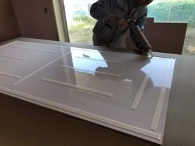 白いテープは、両面テープです。郡山市御前南| 郡山市 新築住宅 大原工務店のブログ