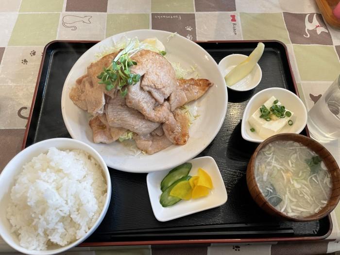 先日食べた生姜焼き定食です!| 郡山市 新築住宅 大原工務店のブログ
