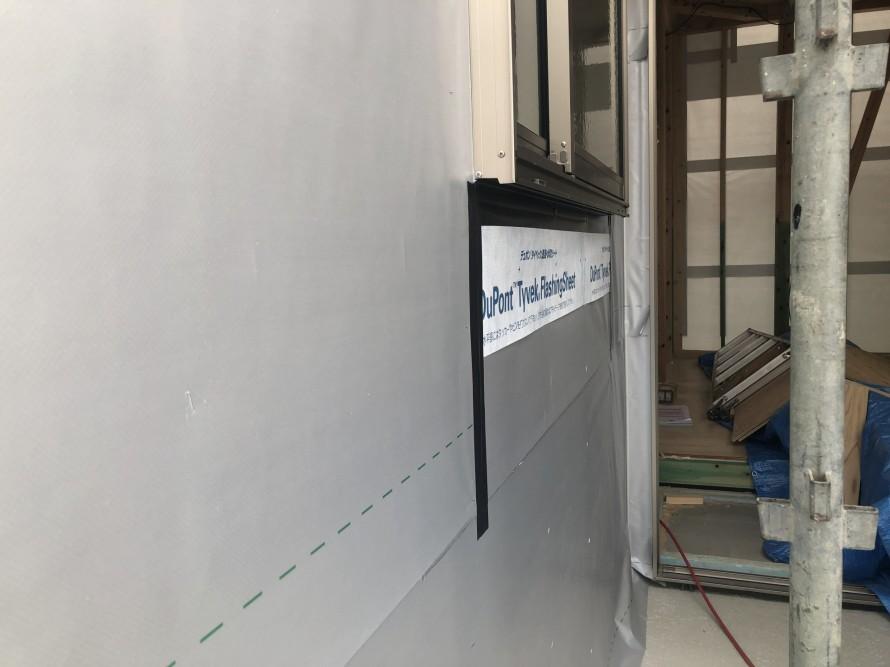 外壁シート、ジョシーツLXシルバーもチェックしてもらいました。|郡山市 新築住宅 大原工務店のブログ