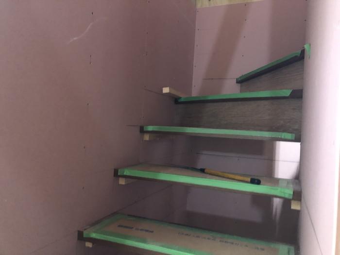 階段の施工です。|郡山市 新築住宅 大原工務店のブログ