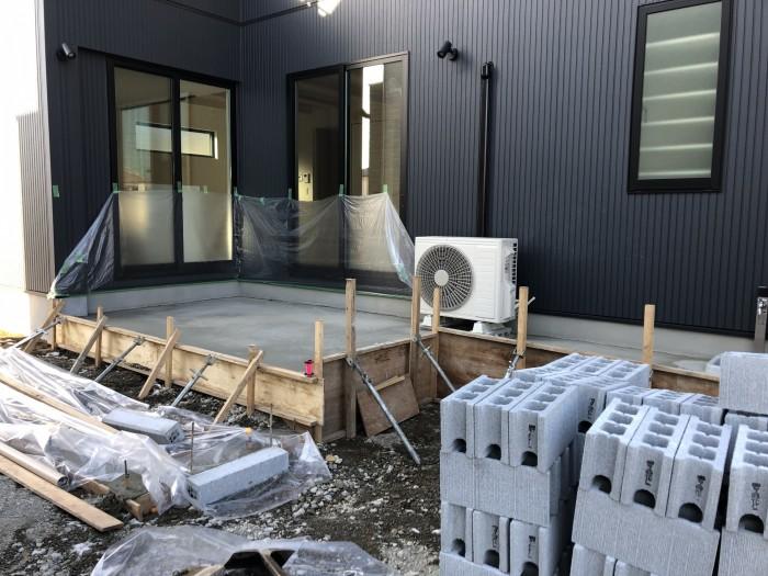K様邸、外構工事中でした。  郡山市 新築住宅 大原工務店のブログ